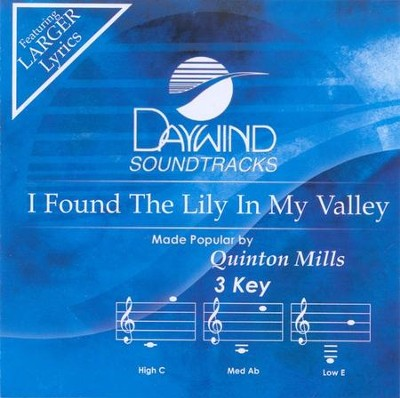 I Found The Lily In My Valley, Acc CD   -     By: Quinton Mills