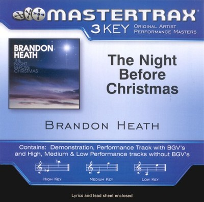 The Night Before Christmas, Accompaniment CD   -     By: Brandon Heath