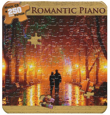 Romantic Piano (Puzzle Tin with CD)   -