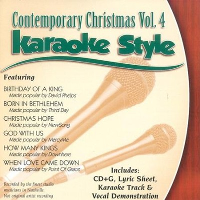 Contemporary Christmas Volume 4, Karaoke Style CD   -
