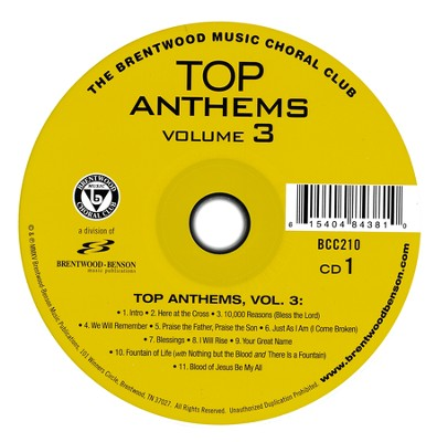 Top Anthems, Volume 3   -     By: Johnathan Crumpton, Luke Gambill