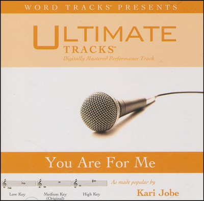You Are For Me - High key performance track w/ background vocals  [Music Download] -