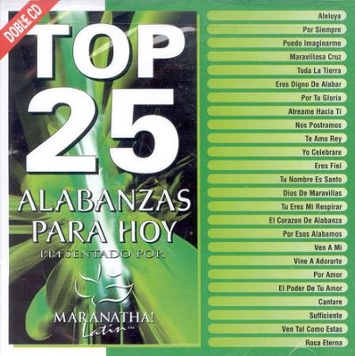 Top 25 Alabanzas Para Hoy, CD   -     By: Maranatha! Music