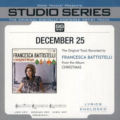 December 25 Acc, CD  -     By: Francesca Battistelli
