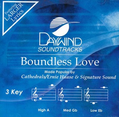 Boundless Love Acc, CD  -     By: The Cathdrals, Ernie Haase