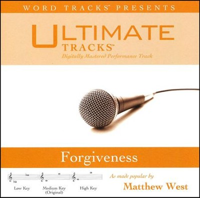 Forgiveness (Medium Key Performance Track with Background Vocals)  [Music Download] -