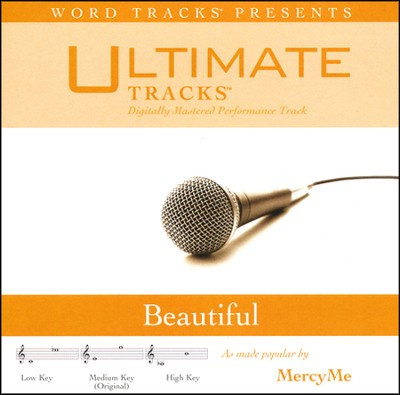 Beautiful - Medium Key Performance Track w/ Background Vocals  [Music Download] -