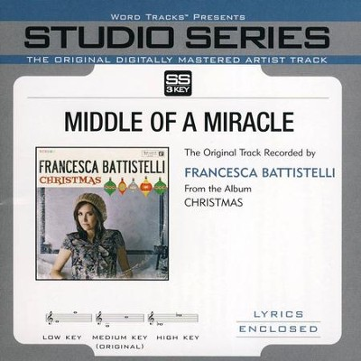 Middle of A Miracle Acc, CD  -     By: Francesca Battistelli
