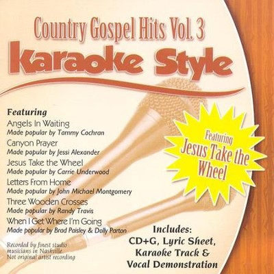 Country Gospel Hits, Volume 3, Karaoke Style CD   -