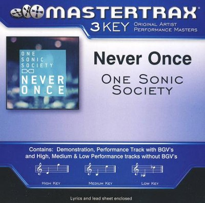 Never Once Acc, CD  -     By: One Sonic Society