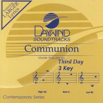 Communion, Accompaniment CD   -     By: Third Day