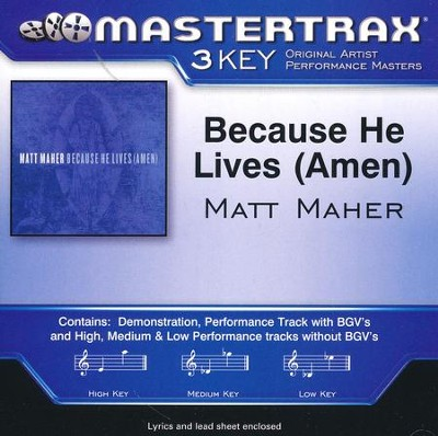 Because He Lives (Amen), Acc CD   -     By: Matt Maher