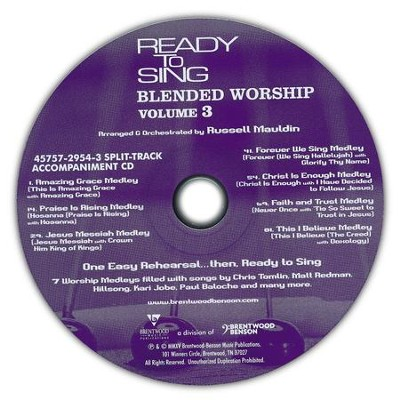 Ready to Sing Blended Worship, Volume 3 (Split-Track Accompaniment CD)  -     By: Russell Mauldin
