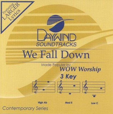We Fall Down, Accompaniment CD   -