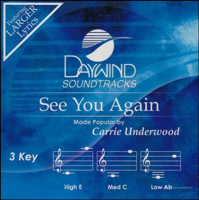See You Again Acc, CD  -     By: Carrie Underwood