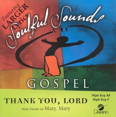 Thank You Lord, Accompaniment CD   -     By: Mary Mary