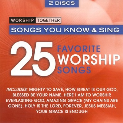 Worship Together: 25 Favorite Worship Songs, 2 CDs   -