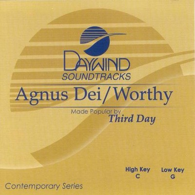 Agnus Dei/Worthy, Accompaniment CD   -     By: Third Day