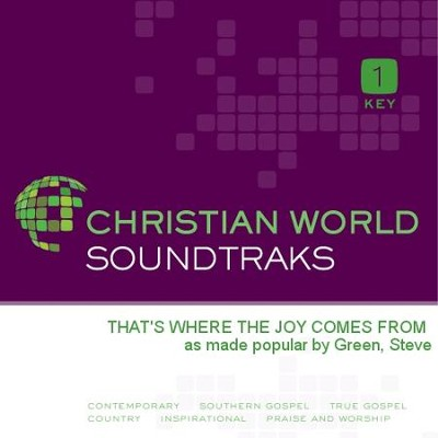 That'S Where The Joy Comes From  [Music Download] -     By: Steve Green