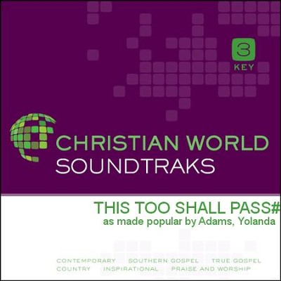 This Too Shall Pass   [Music Download] -     By: Yolanda Adams