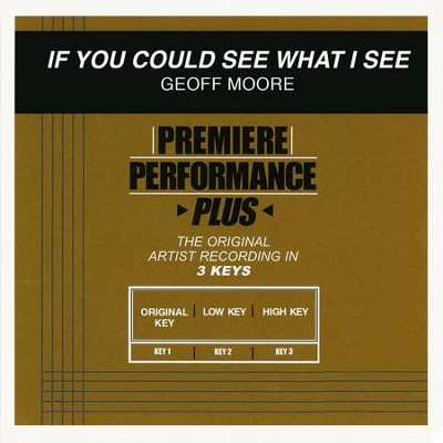 If You Could See What I See (Premiere Performance Plus Track)  [Music Download] -     By: Geoff Moore & The Distance