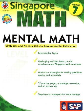 Singapore Mental Math Level 6 Grade 7 9781936024131 Christianbook
