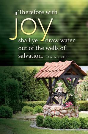 Wells of Salvation (Isaiah 12:3, KJV) Bulletins, 100 - Christianbook.com