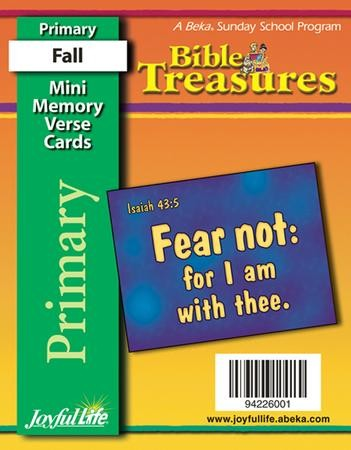 Bible Treasures Primary Grades 1 2 Mini Memory Verse Cards