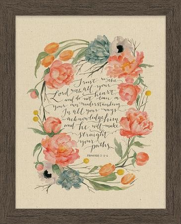 Trust in the Lord with All Your Heart, Proverbs 3:5-6, Framed Art ...