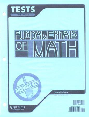 BJU Press Fundamentals of Math Grade 7 Tests Answer Key ...