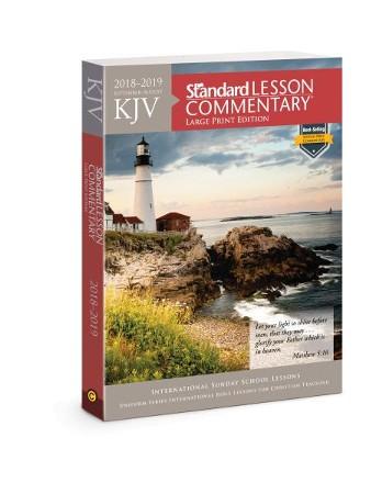Kjv Standard Lesson Commentary Large Print Edition 2018 2019