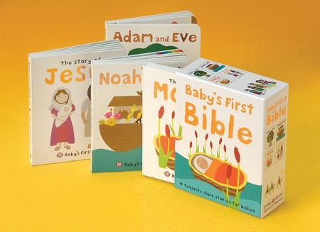 Babys First Bible Four Favorite Bible Stories For Babies Boxed