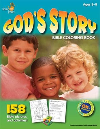 God S Story Bible Coloring Book Anna Trimiew 9780934688994 Christianbook Com