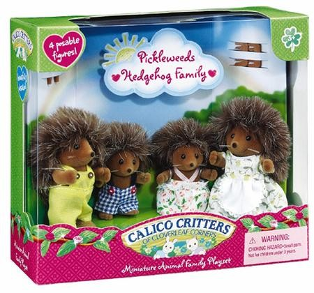 Calico Critters CC1923 Pickleweeds Hedgehog Family Plush