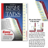 Verse Finder Bible Tabs, Horizontal, Yellow