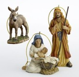 Holy Family Ornament Set, 3 pieces