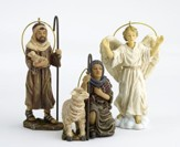 Two Shepherds and Angel Ornament Set, 3 Pieces