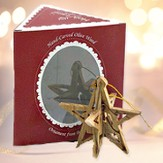 Star Nativity Olive Wood Ornament, Boxed