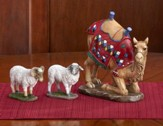 Kneeling Camel and Awassi Sheep, 10 Nativity, Set of 3