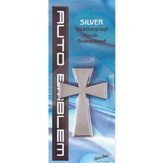 Cross Auto Emblem, Silver, Large
