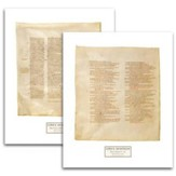 Codex Sinaiticus Facsimile Prints, 2 folios