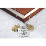 Angels are Among Us Inspirational 3 Tag Necklace