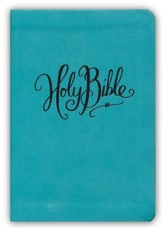 NKJV Essential Compact Large Print Reference Bible, Leathersoft Turquoise