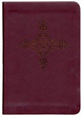 NKJV Essential Compact Large Print Reference Bible, Leathersoft Burgundy