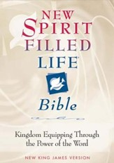 NKJV New Spirit Filled Life Bible, Black Bonded Leather, Thumb Indexed - Imperfectly Imprinted Bibles