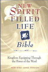NKJV New Spirit Filled Life Bible, Burgundy Bonded Leather, Thumb Indexed