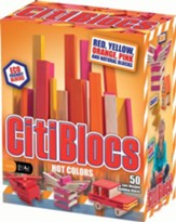 Hot Color Building Blocks, 50 Pieces