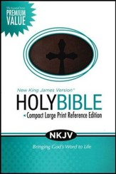 NKJV Essential Compact Large Print Reference Bible, Leathersoft Rich Chestnut