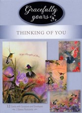 Simpler Times, Thinking of You, Box of 12 with 2 postcards