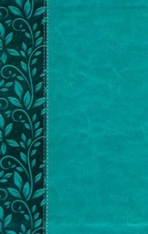 KJV Gift Bible--soft leather-look, rich turquoise